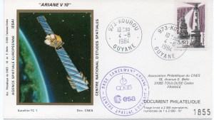 img20191126 18304644 300x169 - Kourou (Guyane) Lancement Ariane 3 - Vol 10 - 04 Aout 1984 (Pochette CNES Complète)