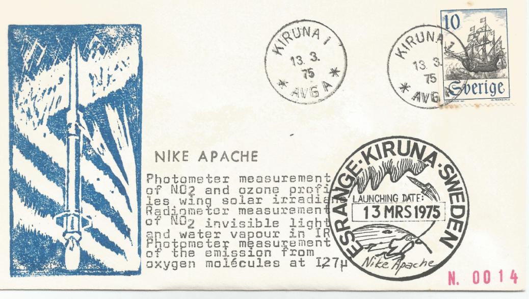 Numérisation 20191222 8 - Base Kiruna ( Suède) - Tir Nike Apache - 13 Mars 1975 - Agence SSC (Suède)