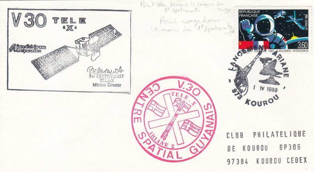 V30 Ariane2 - Kourou - Lancement Ariane 2 Vol 30 - 01 Avril 1989