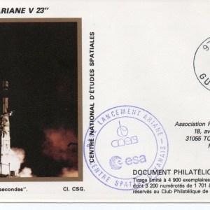 img20191207 18164896 - Kourou (Guyane) Lancement Ariane 2 – Vol 23 - 17 Mai 1988 (Pochette CNES Complète)