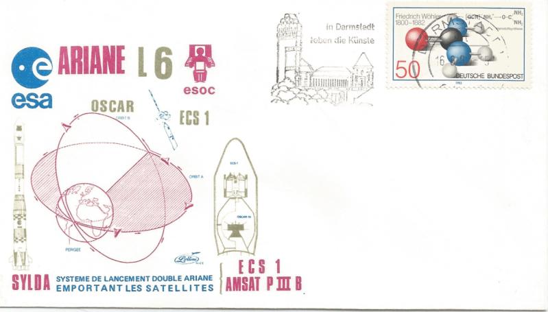 Numérisation 20191222 59 - Station de poursuite de Darmstadt (Allemagne) suivi Ariane L6 - 16 Juin 1983 (Enveloppe Lollini) - C3