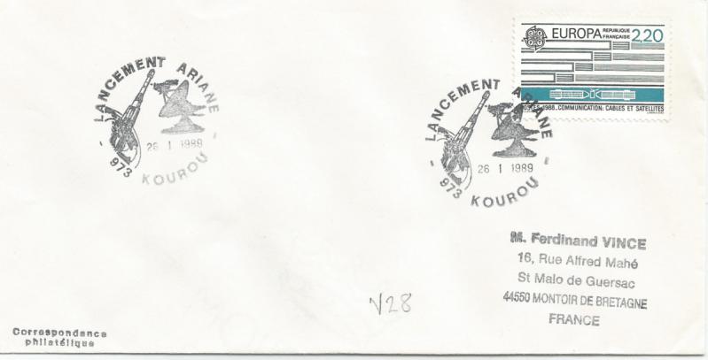 Numérisation 20191222 63 - Kourou (Guyane) Lancement Ariane 2 – Vol 28 - 26 Janvier 1989