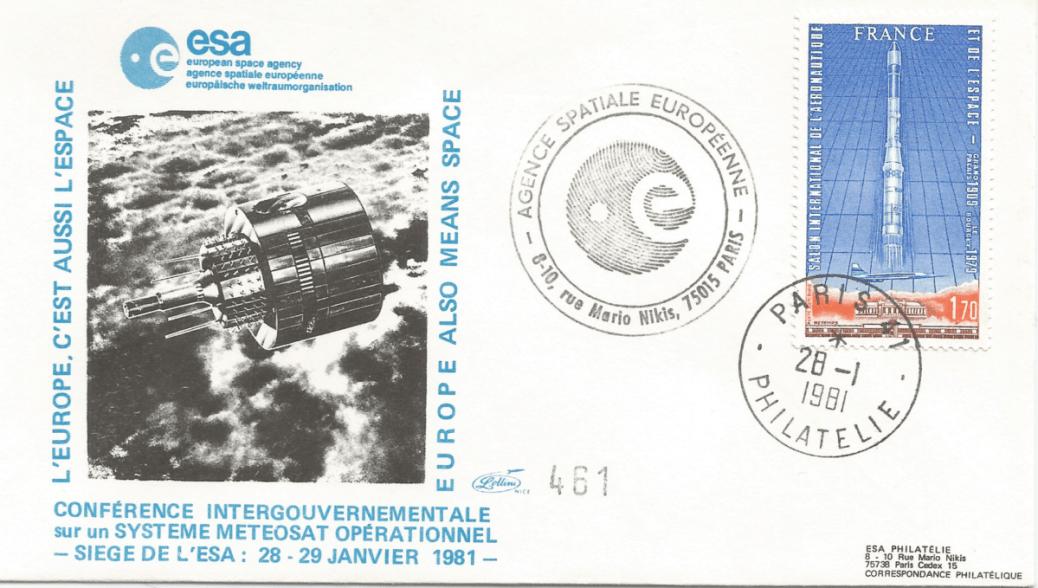 Numérisation 20191222 74 - Paris siège de l'ESA - Conférence Intergouvernementale sur le système Meteosat 28 Janvier 1981