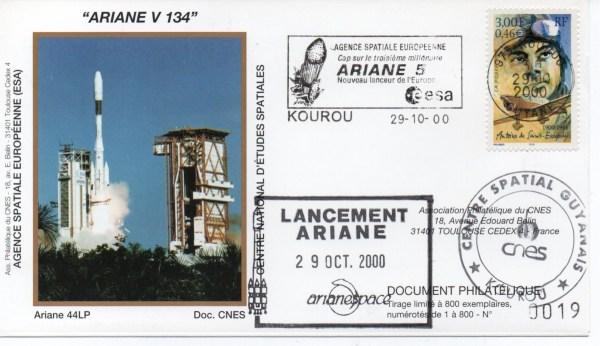 img20200426 18211964 - Kourou (Guyane) Lancement Ariane 4 - 44LP – Vol 134 - 29 Octobre 2000 (Enveloppes Club Phila du CNES)