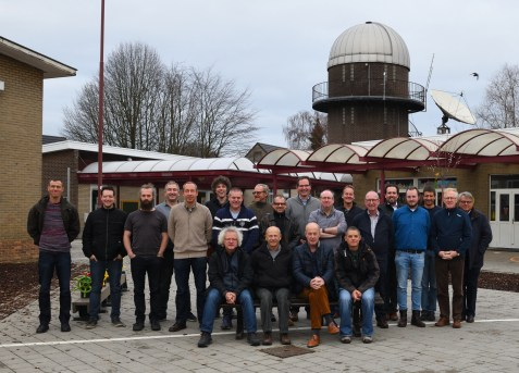 All Workshop participants of the first full-day Workshop Astro Pixel Processor at the Volkssterrenwacht Urania, Hove, Belgium. Mabula Haverkamp is stitting in the front on the right side.
