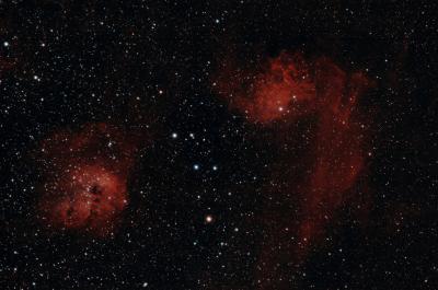 Flame Nebulae HOO web