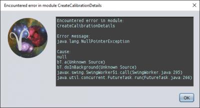 Calibration module error