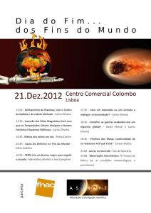 Poster do evento AstroPT do Fim do Mundo na FNAC Colombo
