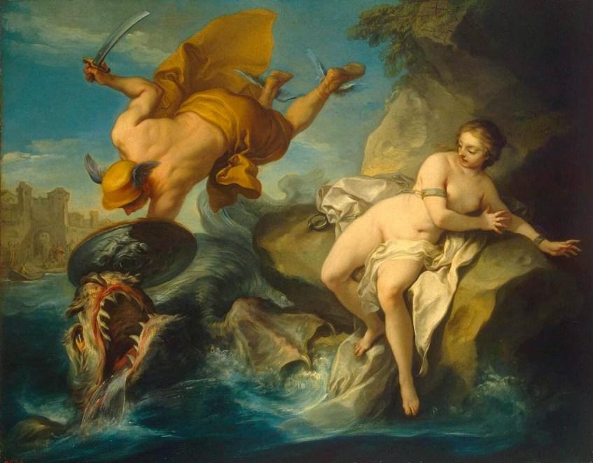 Perseu e Andrómeda. Charles André van Loo, circa 1740.
