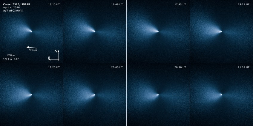 cometa252PLINEAR_WFC3_Hubble_040416