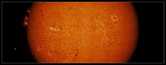 Agosto 2017. José cabello. Panorama solar en H-alfa.