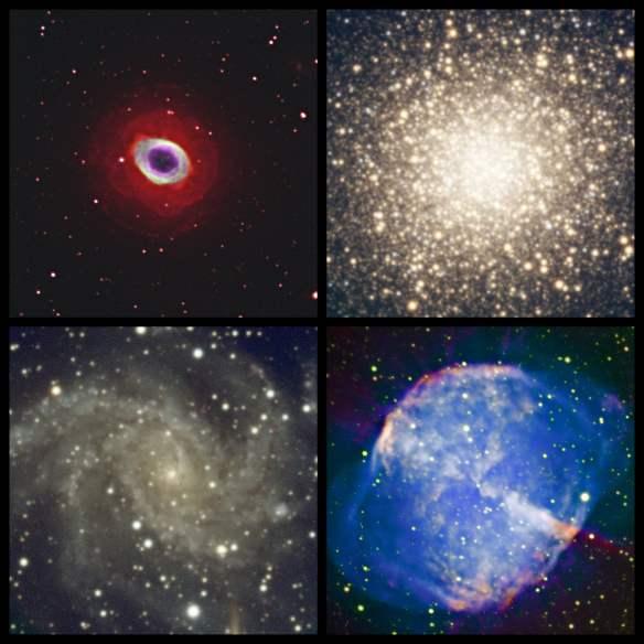 Junio 2017. Isaac Lozano. M57, M13, NGC6946 y M27.