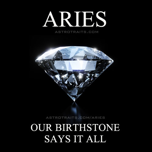 aries our birthstone says it all