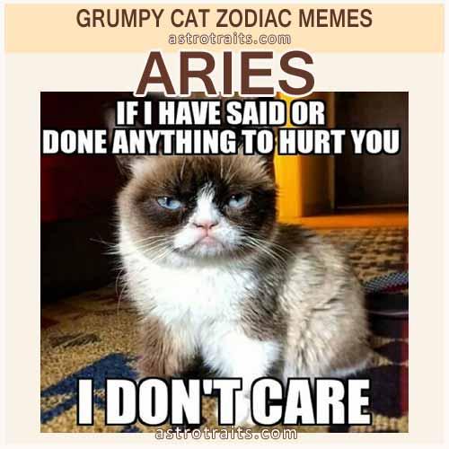 Aries Zodiac Meme - Grumpy Cat