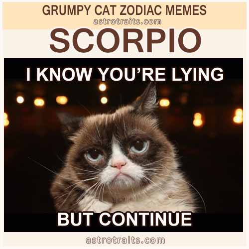 Scorpio Meme 3 - Grumpy Cat