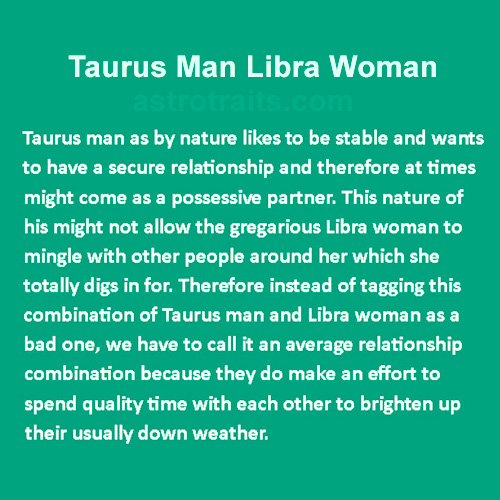 Libra Female Taurus Male