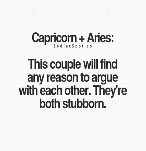 capricorn aries couple
