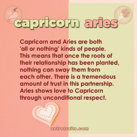 capricorn aries partnership