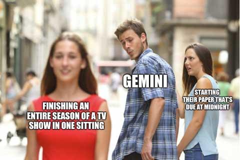 gemini distracted bf meme