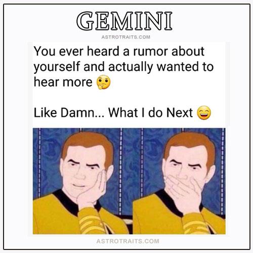 gemini funny meme about gossip