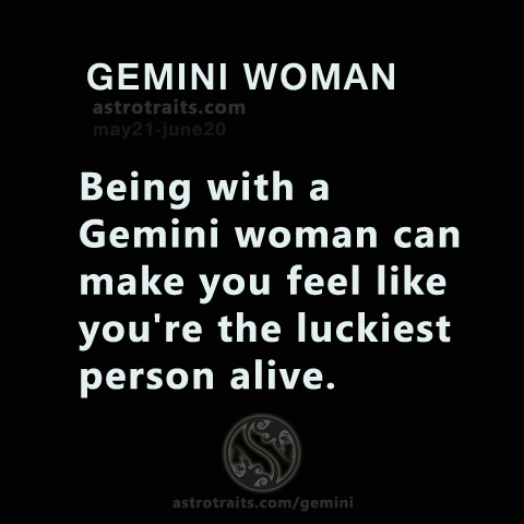 being with a gemini woman