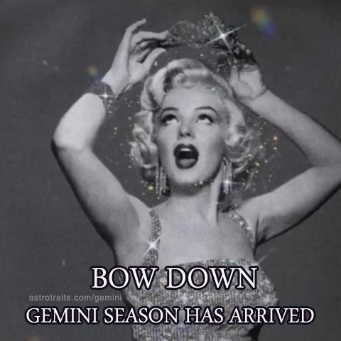 bow down gemini season has arrived meme