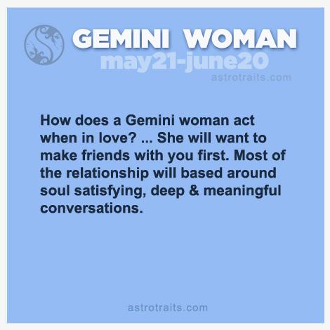 Gemini Woman's Behavior When in Love
