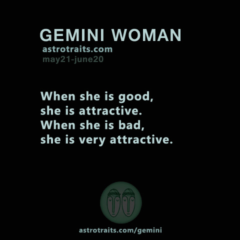 attractive gemini woman