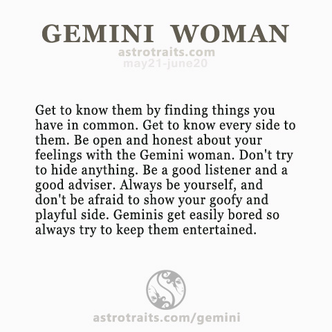 get to know a gemini woman