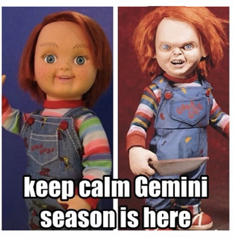 Gemini season Chucky Meme