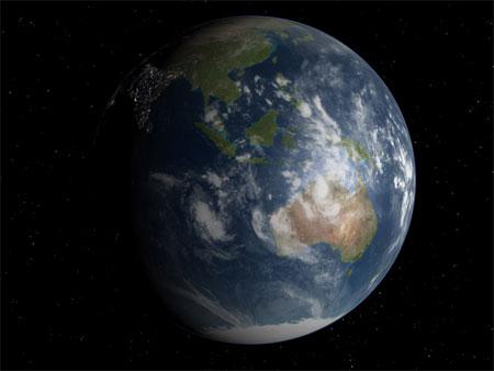 La Tierra vista desde Celestia