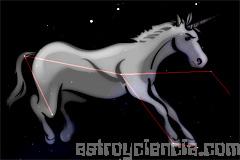 Figura de la constelación del Unicornio