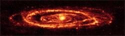 Vista infrarroja de Andrómeda