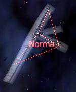 Figura de la constelacion de la Escuadra