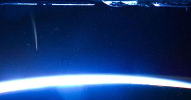 El cometa Lovejoy a 240 millas sobre la atmósfera terrestre