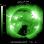 La tormenta solar del 24 de enero obliga a desviar vuelos sobre el Ártico