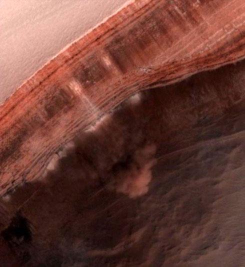 Capturada una avalancha en Marte