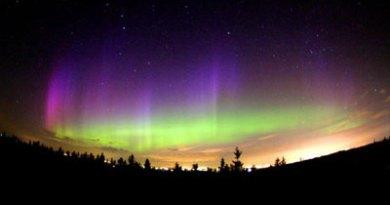 Imagen de la Aurora Boreal sobre Noruega