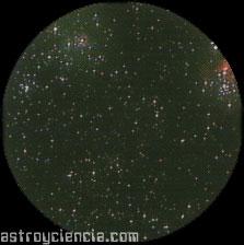 Zoom sobre la nebulosa M8 y M20