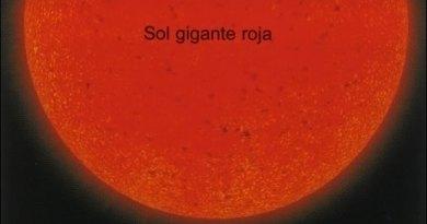 Escala del Sol convertido en una Gigante Roja