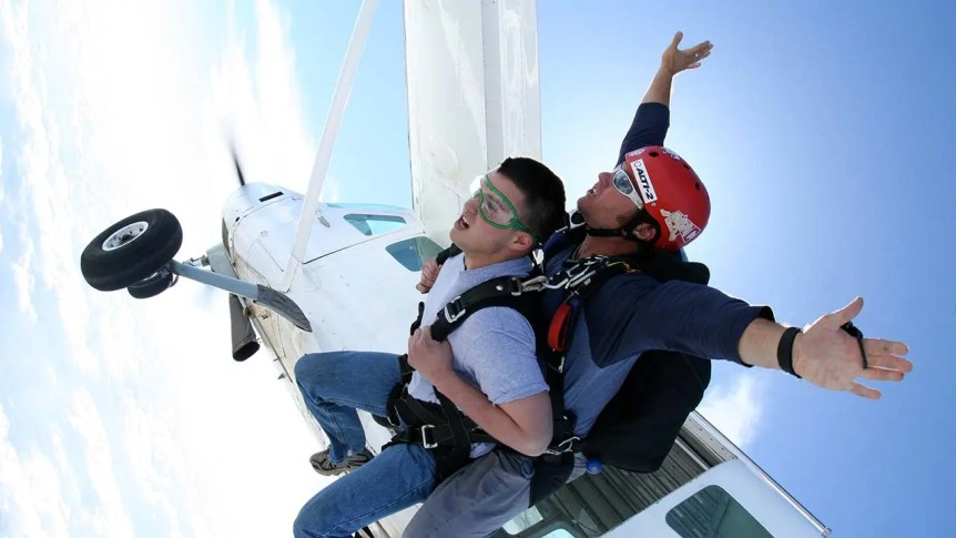 Tandem Skydive Plane Exit