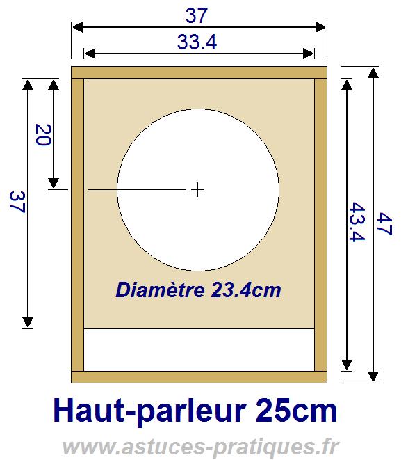 plan de caisson de grave hp 25cm