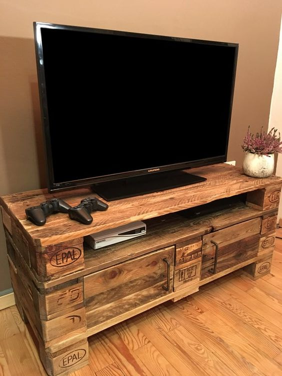 33 top idees de meubles tv en palettes