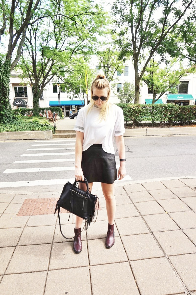 Leather Skirt Fashion