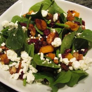 Butternut Sqaush Salad with Homemade Vinaigrette