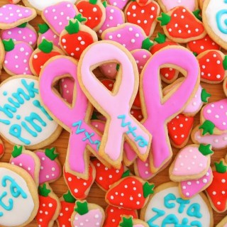 ZTA Breast Cancer Sugar Cookies