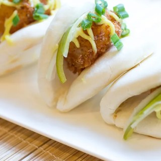 Fried Shrimp Steamed Buns
