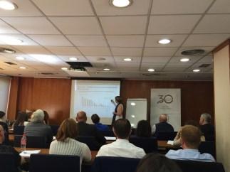 Patricia Suárez presenta las estadísticas