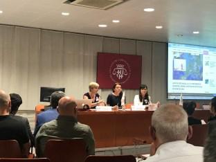 De izq. a derecha: Patricia Suárez, Beata Komarnicka Nowak y Franca Berno