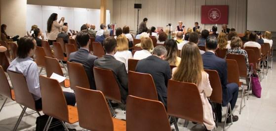Asistentes a la VI Conferencia Europea Sobre Hipotecas en Divisas en Barcelona.
